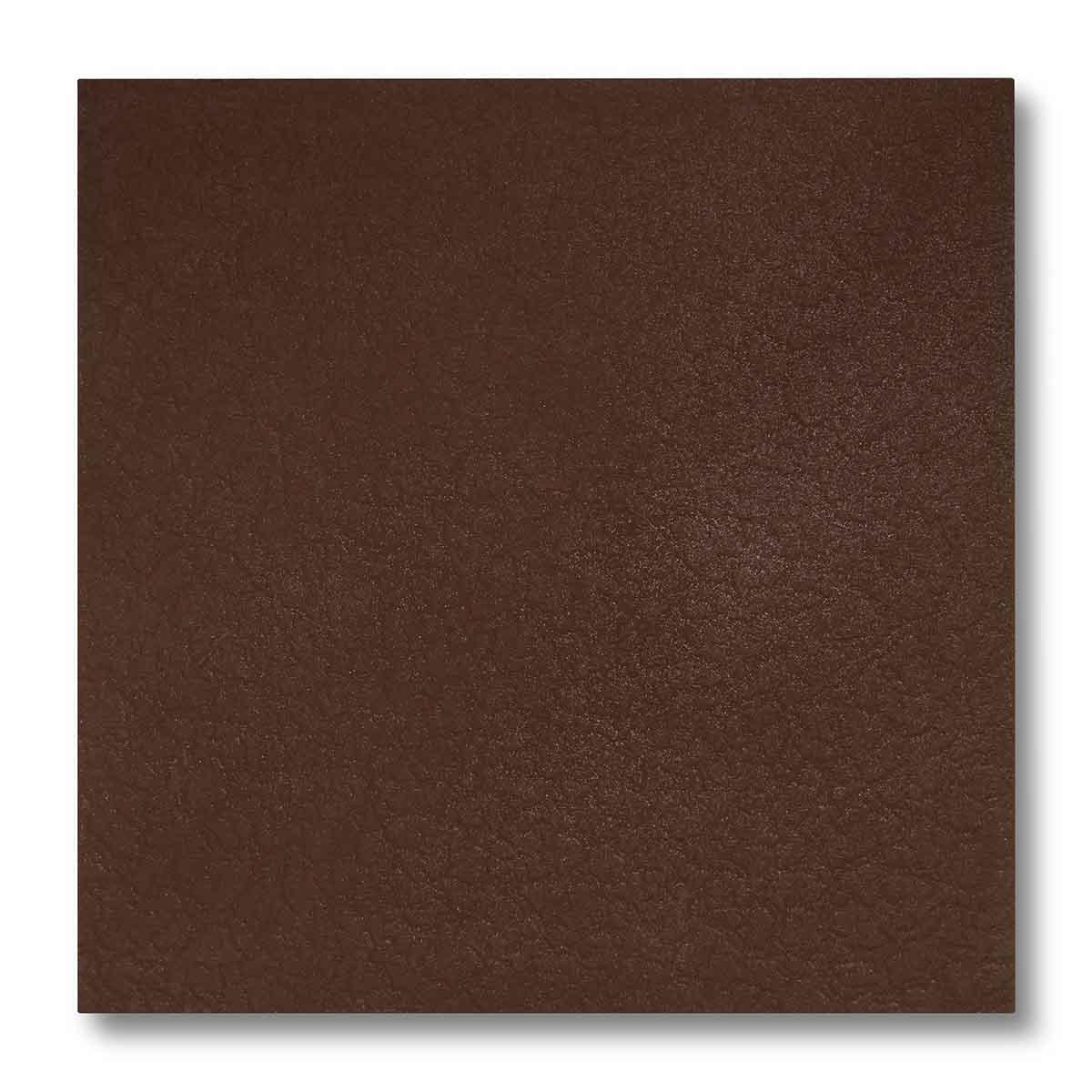 Pannellino di legno dipinto con effetto cuoio colore marrone