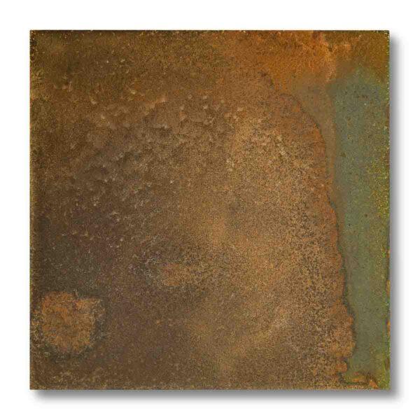 Pannellino di legno dipinto con effetto ruggine colore ruggine