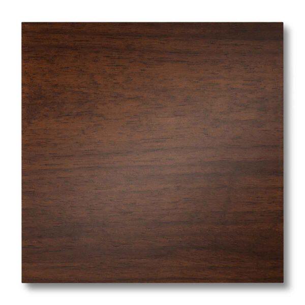 Pannellino di legno dipinto con effetto luminescente colore noce medio su noce