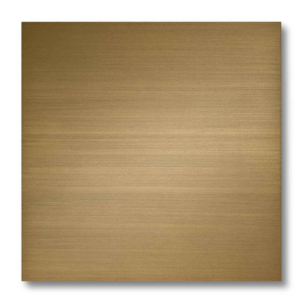 Pannellino di legno dipinto con effetto ottone spazzolato colore ottone satinato scuro