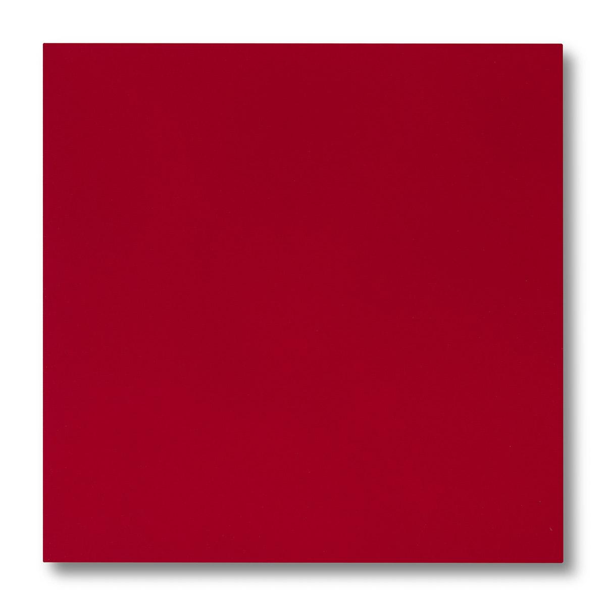 Pannellino di legno dipinto con effetto seta colore rosso